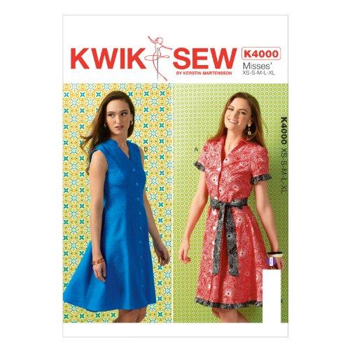 KWIK-SEW PATTERNS K4000OSZ Misses' Dresses and Belt Sewing Template (Dress Princess Sew)