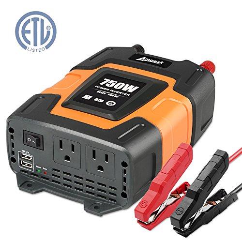 Inverter Power Supply (Ampeak 750W Power Inverter DC 12V to 110V AC Converter with 3.1A Dual USB Inverter)