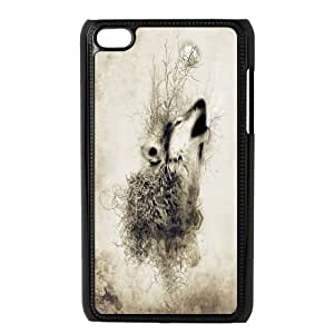 Unique Phone Case Pattern 5Wolf,Wolves and Moon Pattern- FOR IPod Touch 4th