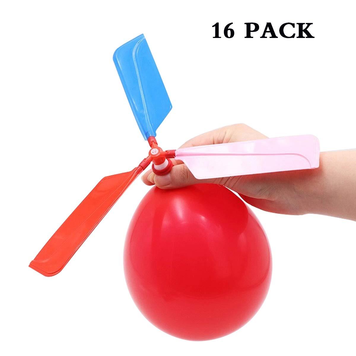 SBYURE 16個パック 風船 ヘリコプター 子供用 ゲーム パーティーゲーム 子供の日 ギフト 誕生日 パーティーのお土産 カラーランダム   B07KRSRH9D
