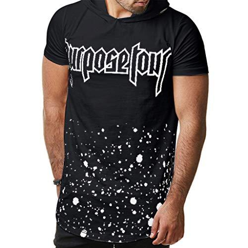 (HimTak Summer T-Shirt For Men's Letter Print Theme Rour New Men's Casual Cap With Short Sleeve T-Shirt)