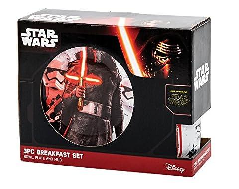 Star Wars Force Awakens 3pc Breakfast Set - Kylo Ren And Troopers