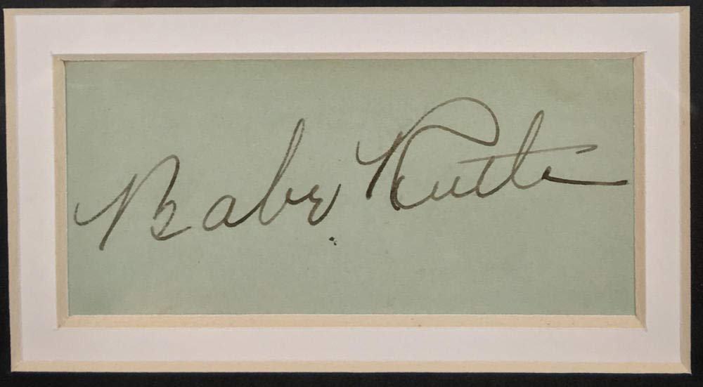Gorgeous Babe Ruth Signed Autograph Display, PSA