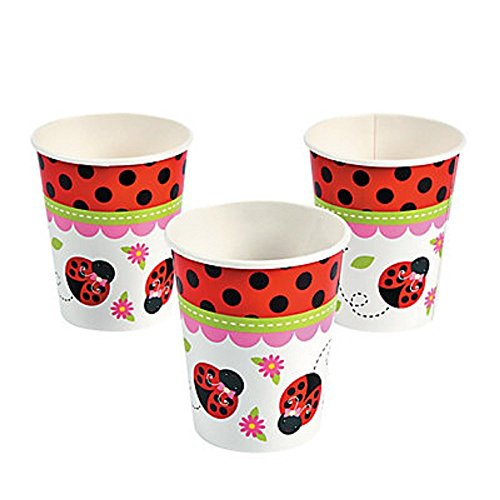 "Little Ladybug Paper Cups ~ 8 cups ~ 3 3/4"" / 9 oz. ~ New"