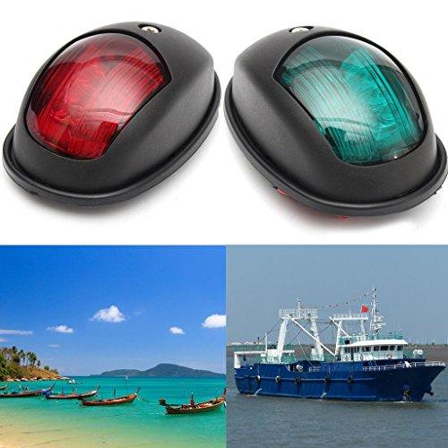 Sharplace 4 Pcs Feux Navigation LED Rouge Vert Lumière de Tribord 12 V delicate
