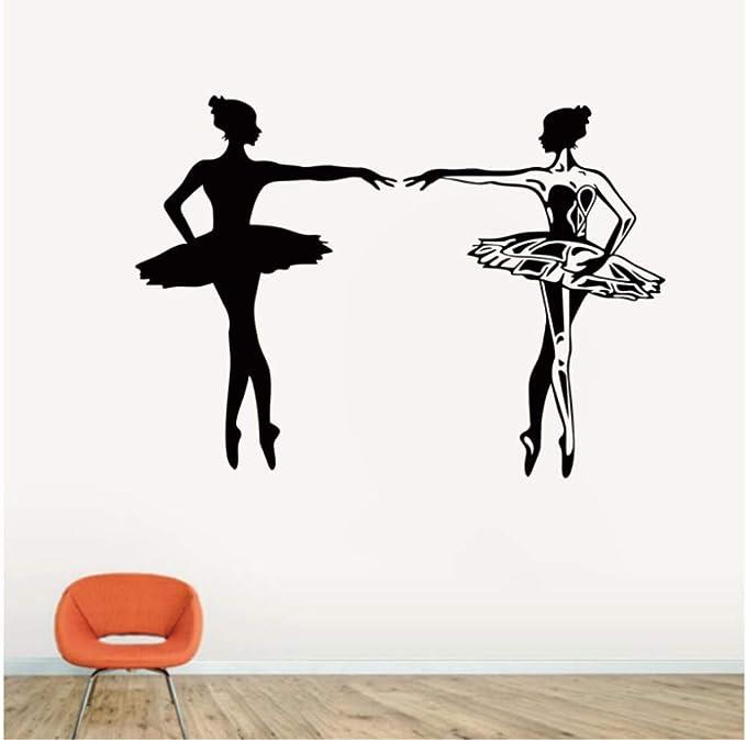 Sticker de pared de bailarinas de ballet