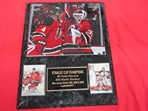 Scott Stevens Martin Brodeur New Jersey Devils 2 Card Collector Plaque w/8x10 Photo GREAT PHOTO