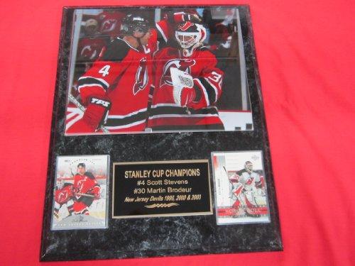 Scott Stevens Martin Brodeur New Jersey Devils 2 Card Collector Plaque w/8x10 Photo GREAT PHOTO - Jersey Plaque New Devils
