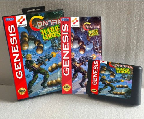 Taka Co 16 Bit Sega MD Game Contra The Hard Corps NTSC-U With Box And Manual 16bit MD Game Card For Sega Mega Drive For Genesis