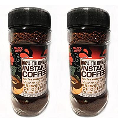 Trader Joe's 100% Colombian Instant Coffee 3.5oz (Pack of 2)