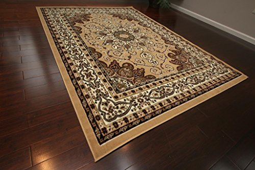 Generations New Oriental Traditional Isfahan Persian Area Rug, 9 x 12'4, Beige