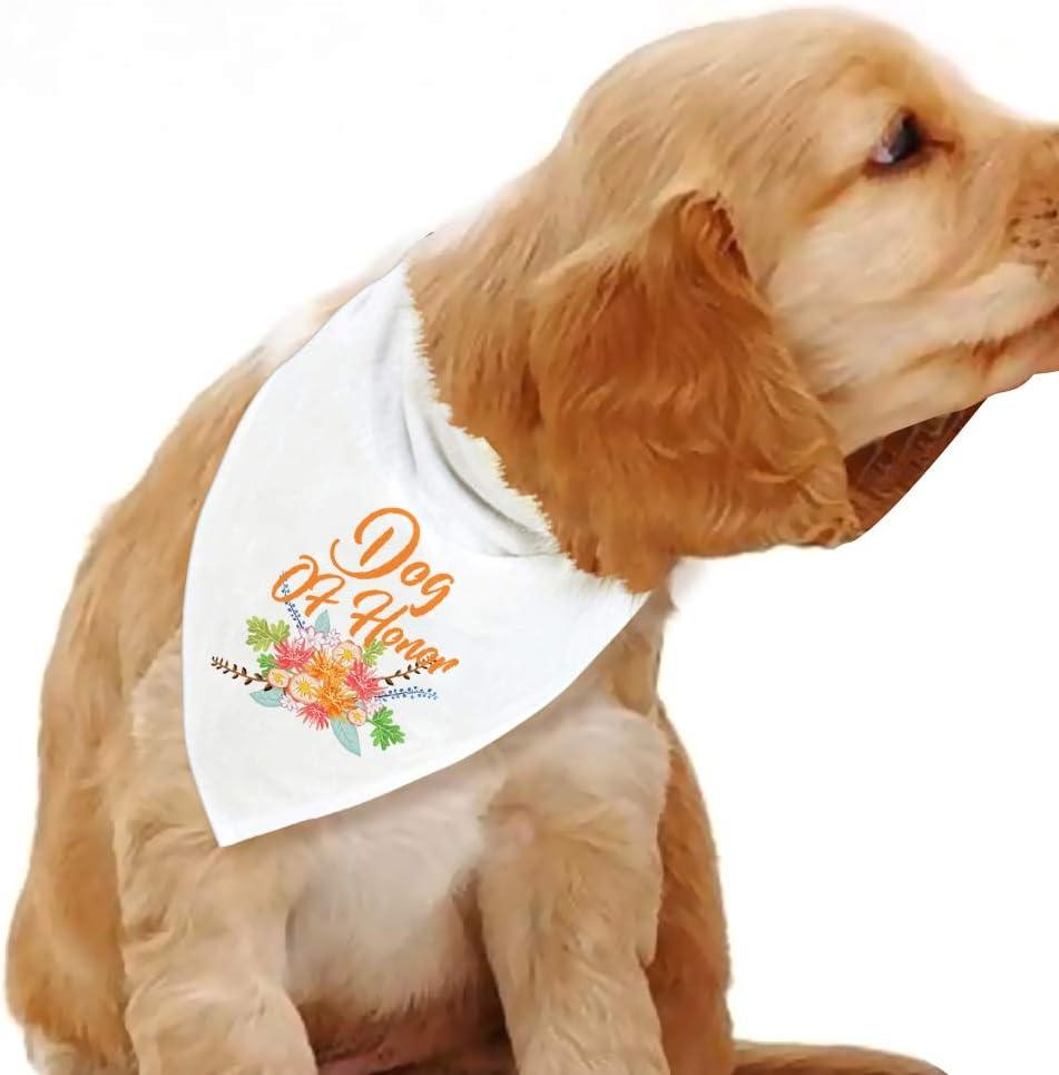Engagement Dog Gift Embroidered Best Dog Reversible Black Dog Scarf with Snap Wedding Dog Bandana