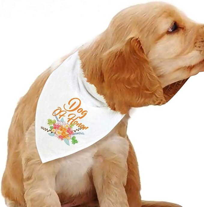 Personalized Dog Bandana Dood Of Honor Bandana Wedding Bandana