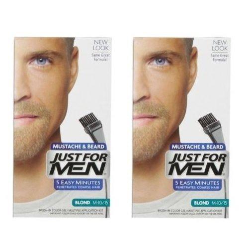 Just For Men Brush-In Color Gel for Mustache & Beard, Blond M-10/15 (Pack of 2) -