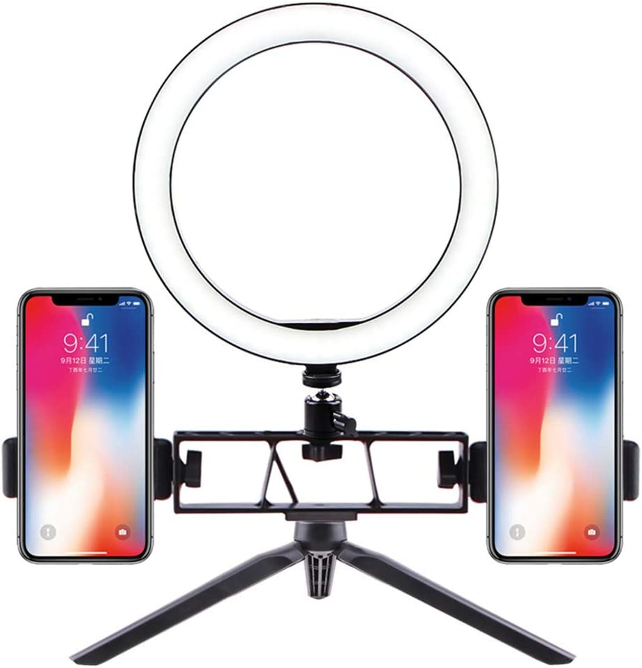 B MAYthou LED Ring Light Fill Lighting Dimmable with Tripod Stand for Phone Camera Photo Video Selfie