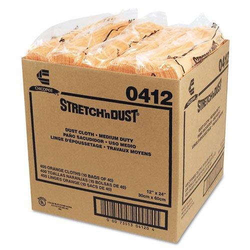 Chix Stretch Æn Dust Cloths, 11 5/8 x 24, Yellow - Includes 10 packs of 40 dust cloths each.