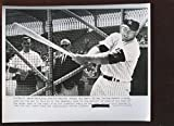 Mickey Mantle Photograph - Original March 5 1962 Swings Big Bat 8 X 10 Wire - Autographed MLB Photos