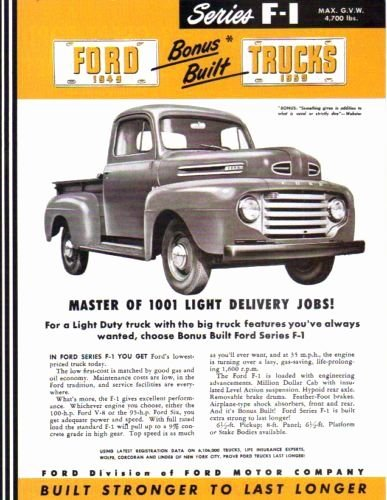 1949 F-1 SERIES FORD TRUCK & PICKUP BEAUTIFUL DEALERSHIP for sale  Delivered anywhere in USA
