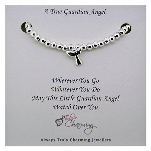 Silver Guardian Angel Bracelet 15cm-21cm Extendable Chain by Truly Charming (Guardian Angels Bracelet)