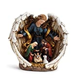 Napco Jewel Guardian Angel Nativity Figurine
