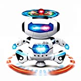 Itian Electronic Walking Dancing Smart Space Digital Dancing Warrior Robot Astronaut Toy Figure with Colorful Rotating Lights, Music, Dancing Action, 360° Spins