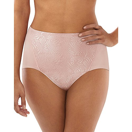 Bali Firm Control Cotton Brief 2-Pack, XL, Sheer Pale Pink