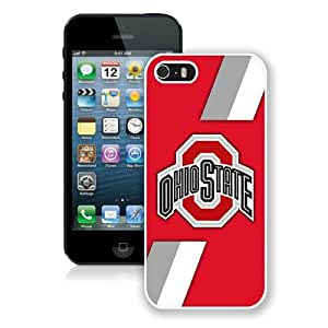 Ncaa Big Ten Conference Football Ohio State Buckeyes 6 White Best Buy Customized Design iPhone 5S Case