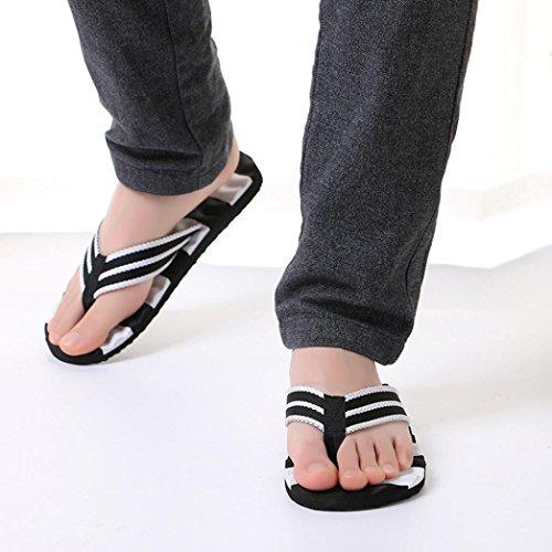 morecome Male Slipper, Men Summer Stripe Flip Flops Shoes Sandals A