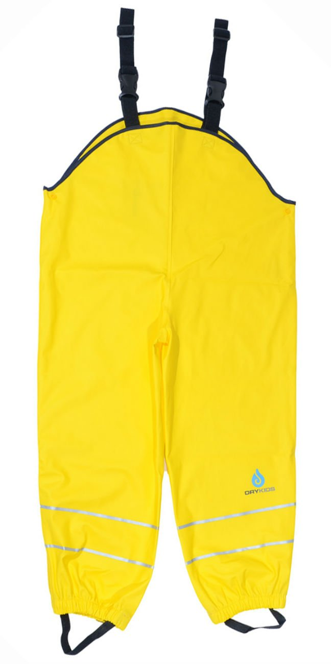 DRY KIDS Childrens Waterproof Dungarees Unlined. Boys and Girls Rainwear for Outdoor Play
