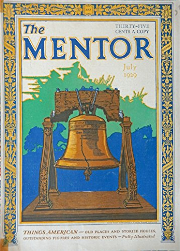 Liberty Bell, cover art engraved on wood, painting by Howard McCormick, Print art (cover plus, where the Liberty Bell was cast, London Foundry) Very Rare Authentic oringial vintage, 1929 The Mentor Magazine Cover Art ()