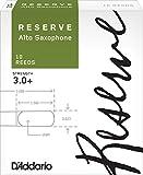D'Addario Reserve Alto Saxophone Reeds, Strength 3.0+, 10-pack
