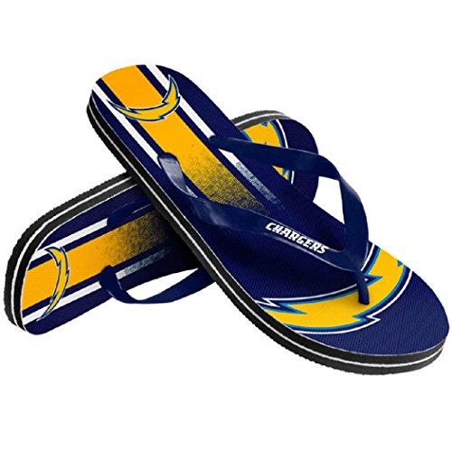 Team Flip Flops (NFL Football Unisex Gradient Big Logo Beach Summer Flip Flop Sandals - Pick Team (San Diego Chargers, Small))