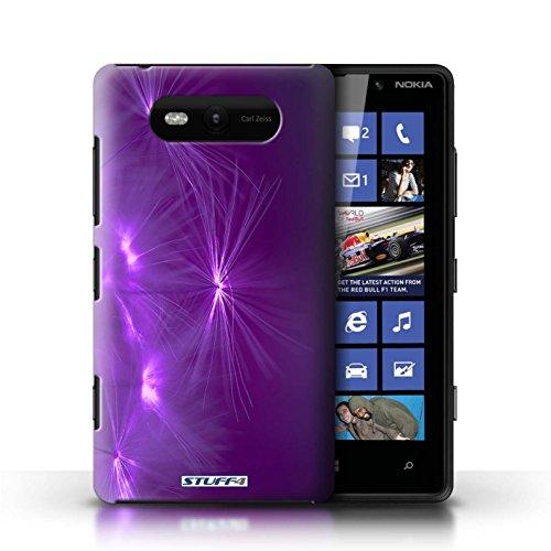 Etui / Coque pour Nokia Lumia 820 / Pourpre conception / Collection de Allumez la vie