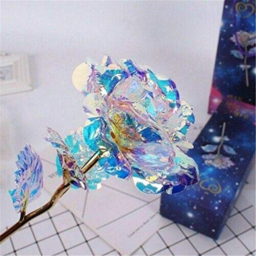 Yu2d  Galaxy Rose with Love Base Everlasting Crystal The Best Choice(Multicolor)