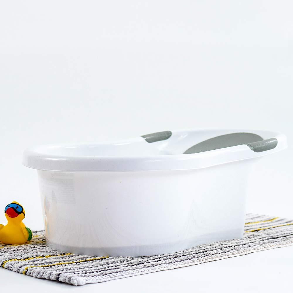 Nuby Baby-Badewanne mit integriertem Sitz und weicher Kopfst/ütze
