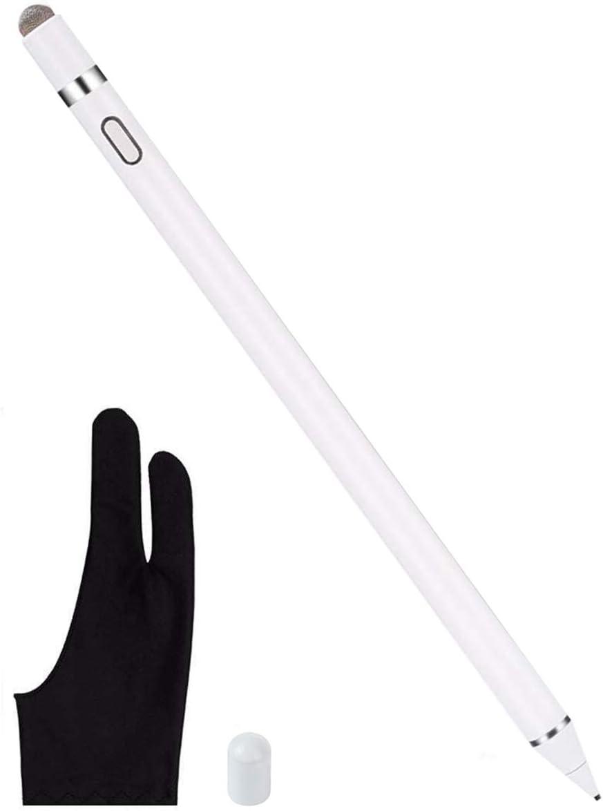 Wei/ß KUPVALON iPad Stift Active Stylus Stift Eingabestift Pencil Aktiv Kapazitiver Pen f/ür Touchscreens 1,44 mm Hochpr/äzise Faserspitze Kompatibel mit iPad 2018 iPad Air 3 iPad Pro 3 iPad Mini 5