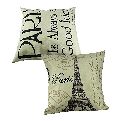 Yueton Eiffel Letter Decorative Cushion