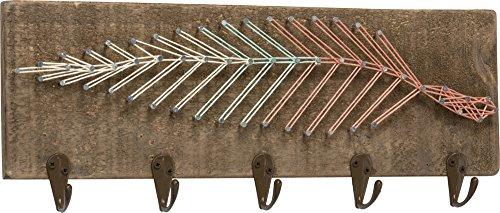 String Art Key Rack - Feather