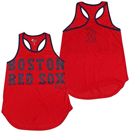 G-III 4her by Carl Banks Boston Red Sox Women's Red Game Time Racerback Tank Top Large Red Sox Tank