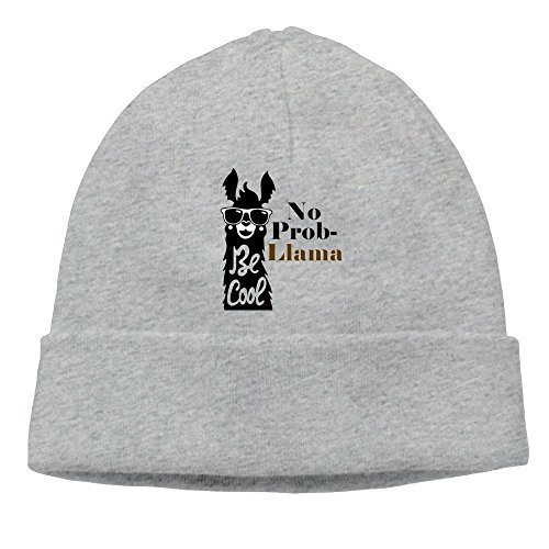 OHMYCOLOR Funky Smiling Sunglasses No Problem Llama Mens Knit Beanies Hats For Womens Cotton Winter Unisex Trucker Baseball Caps - Days 7 To Sunglasses Die
