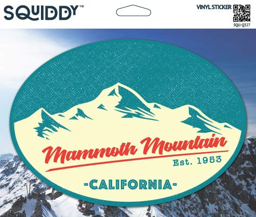 Squiddy Mammoth Mountain California - Vinyl Sticker Decal for Phone, Laptop, Water Bottle (3