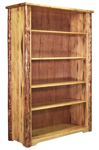 Rustic Pine Bookcase - Montana Woodworks Glacier Country Collection Bookcase