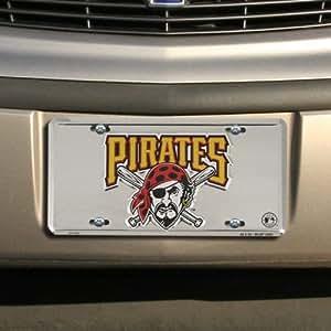 Pittsburgh Pirates Super Stock metal auto tag mirror background