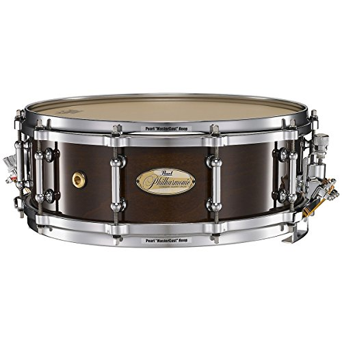 Pearl Philharmonic Solid Maple Snare Drum High Gloss Walnut Bordeaux