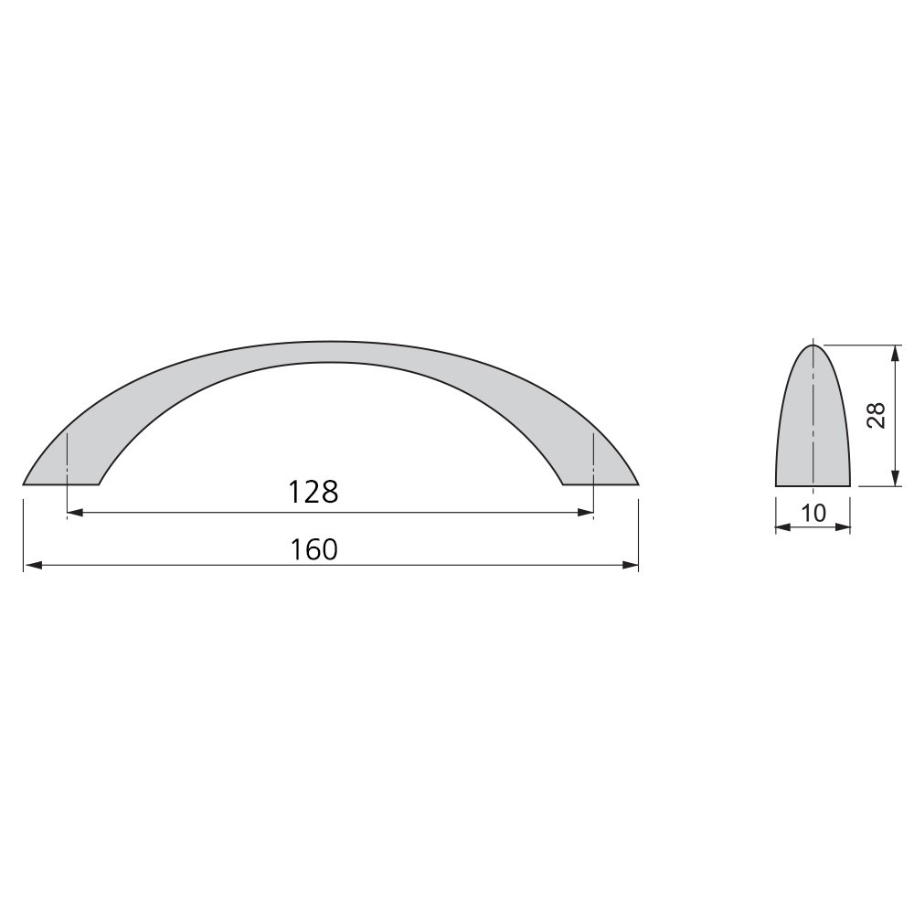 Emuca 9160951 Tirador para Mueble Niquel satinado CC 128 mm Set de 20 Piezas