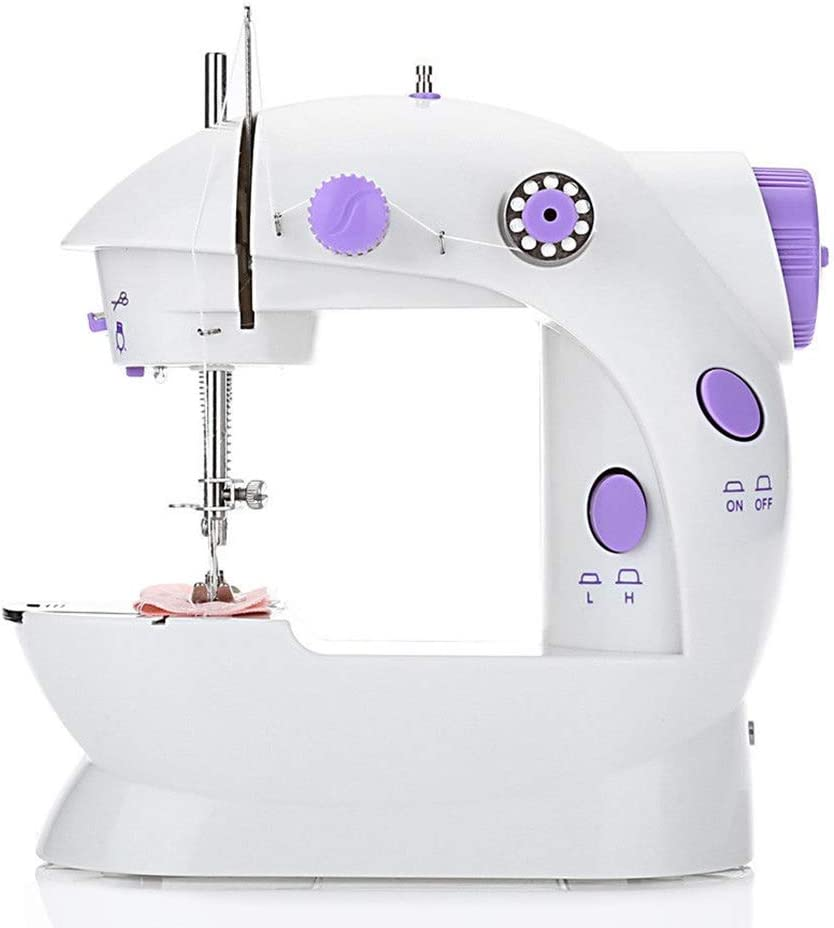 Portable Mini Electric Sewing Machines,Beginner Handheld Lightweight Household Sewing Machine Sewing Machine for Home Crafting /& DIY Project Extension Table,2-Speed, 2-Thread, Cutter, Foot Pedal