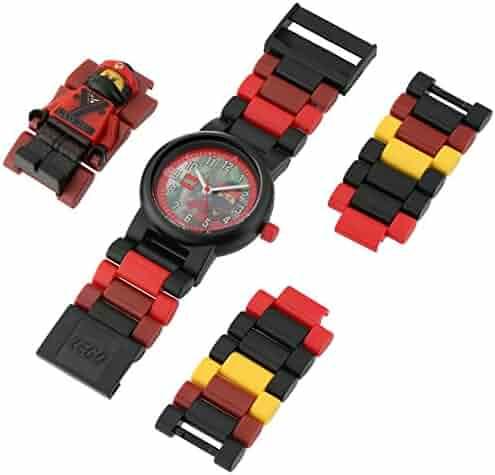 LEGO Ninjago Movie Kai Kids Minifigure Link Buildable Watch | red/black| plastic | 28mm case diameter| analog quartz | boy girl | official