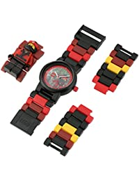 Ninjago Movie 8021117 Kai Kids Minifigure Link Buildable Watch | red/black| plastic | 28mm case diameter| analog quartz | boy girl | official