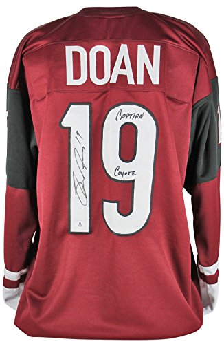 """Coyotes Shane Doan """"Captain Coyote"""" Authentic Signed Maroon Jersey BAS"""
