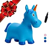 Babe Fairy Jumping Horse-Bouncy Horse Ride On Animals with Pump-Inflatable Unicorn Hopping Hopper for Girls and Boys-Bouncy Amials for Toddler-Best Lawn Game Toys